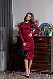 Женское трикотажное платье с открытой спиной (3 цвета), фото 8