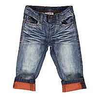 Модные Тертые Джинсы Для Маленьких Мальчиков С Оранжевыми Отворотами Brums Италия