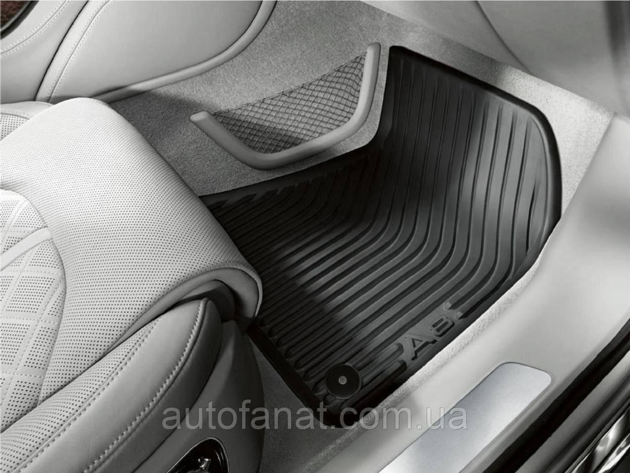 Комплект оригинальных коврики салона Audi A8 (D4) резиновые задние (Long) (4H0061512041)