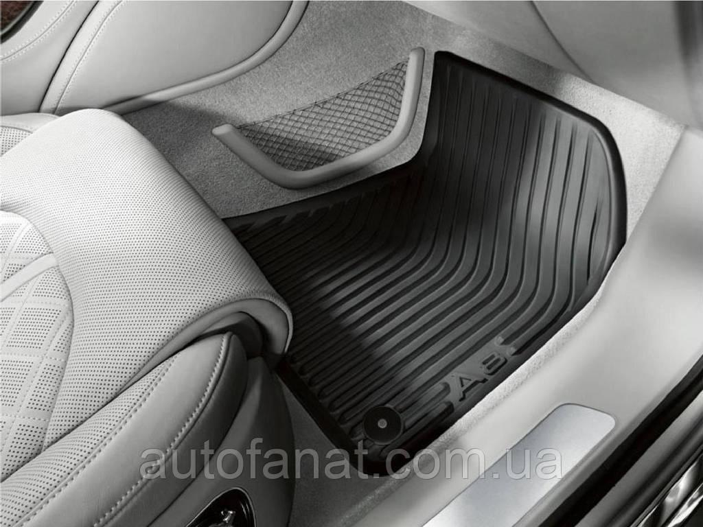 Коврики в салон Audi A8 (D4) резиновые задние (Long)