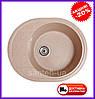 Мийка кухонна зі штучного каменю Venus (сіра), фото 4