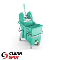 Ведро для влажной уборки с отжимом TTS Action Pro 30л. зеленое, Италия