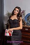 Женское замшевое платье с чашками (4 цвета), фото 2