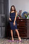 Женское замшевое платье с чашками (4 цвета), фото 3
