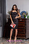 Женское замшевое платье с чашками (4 цвета), фото 5