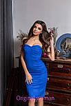 Женское замшевое платье с чашками (4 цвета), фото 8