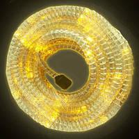 Гофрированный шланг дюралайт LED желтый, 10 метров