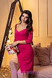 Женское трикотажное платье с декольте (2 цвета), фото 2