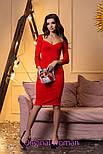 Женское трикотажное платье с декольте (2 цвета), фото 5