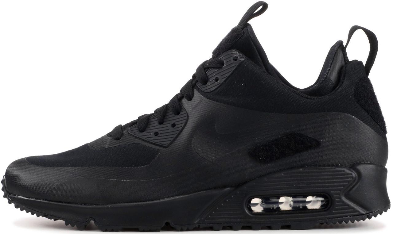 ab52aae92ed3ed Мужские кроссовки Nike Air Max 90 Sneakerboots Triple Black (Найк аир макс  90, черные
