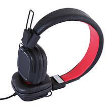 Наушники с микрофоном Gemix Clarks Black/Red, гарнитура, фото 3