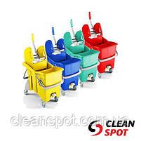 Ведро для влажной уборки с отжимом TTS Action Pro 30л. желтое, фото 2