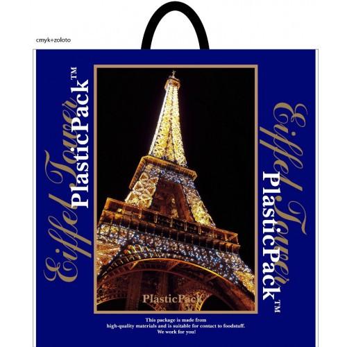 Полиэтиленовый пакет с петлевой ручкой ''Париж'' 470*490, 10 шт