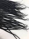 Сенегальские косы. Чёрные жгуты для волос. Разноцветные косички, фото 8