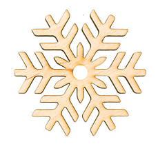 """Заготівля для декору """"Сніжинка 8"""", фанера,Д:8см,Rosa Talent 4801517"""