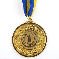 Медаль наградная с лентой d=53 мм