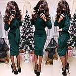 Женский теплый костюм с люрексом: свитер с поясом и юбка (6 цветов), фото 6
