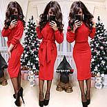 Женский теплый костюм с люрексом: свитер с поясом и юбка (6 цветов), фото 8