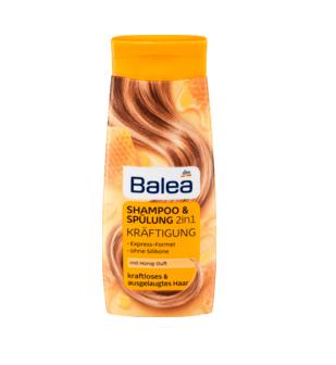 Шампунь Balea 2в1 для ослабленого і виснаженого волосся 300мл.