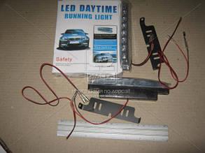 Огни ходовые 8 диодов (LED) влагозащищенные DRL-218 (JH 008-2)