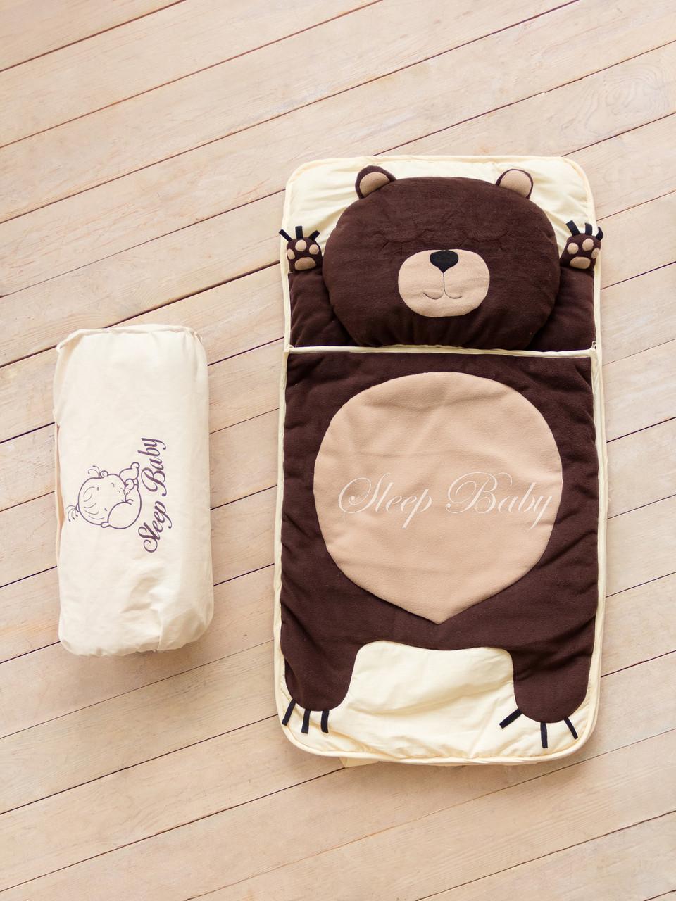 """Дитячий сліпік/спальник для сну і відпочинку не роз'ємний """"Ведмідь"""""""