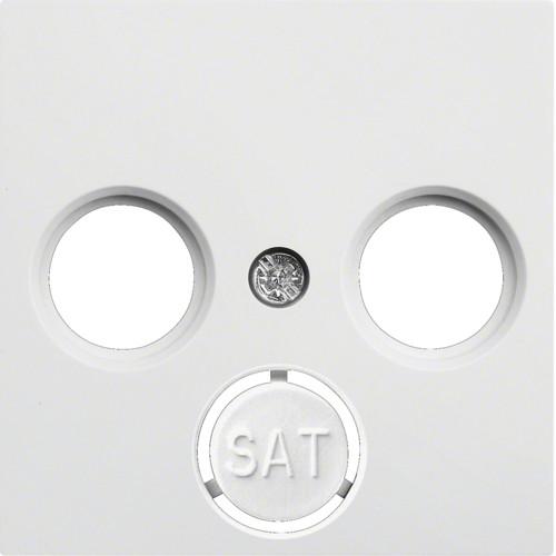 Лицевая панель ТВ LUMINA2 Hager белая WL6310