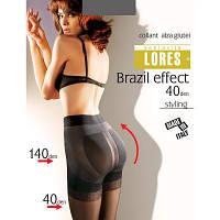 """Колготки Lores Колготки моделирующие (с эффектом """"Push-up"""")  LORES (ЛОРЕС) DB-Brazil-effekt-40-fumo"""