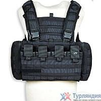 Разгрузочный жилет Tasmanian Tiger Chest Rig MK II black/khaki/olive Чёрный