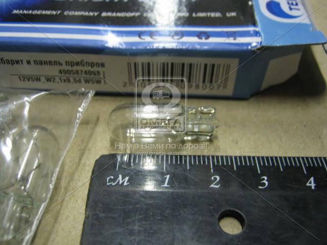 Лампа габарит и панель приборов W2,1x9,5d W5W 12V 5W  12V5W_W2,1x9,5d W5W