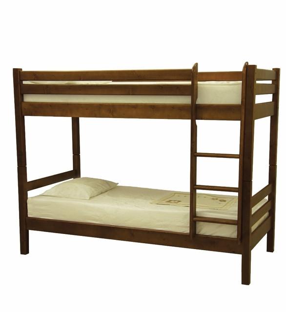 Двоярусне ліжко в дитячу кімнату з натурального дерева Л-302 Скіф