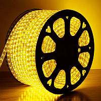 Светодиодная лента 220V SMD 5050 (60 LED) желтая, 100 метров, фото 1