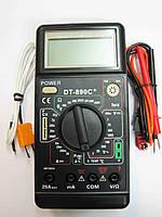 Цифровой профессиональный мультиметр DT- 890C тестер, фото 1