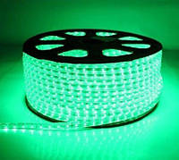 Светодиодная лента SMD 2835 (60 LED/m) IP68 220V Premium зеленая, фото 1