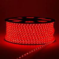 Світлодіодна стрічка SMD 2835 (60 LED/m) IP68 220V Premium червона, фото 1