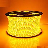 Светодиодная лента SMD 2835 (60 LED/m) IP68 220V Premium желтая, фото 1