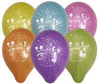 """Воздушные шарики пастель шелкография """"Микки и Минни Маус 10"""" (25 см)"""