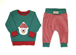 Комплект Рождественский Andriana Kids с медвежонком от 0 до 4 лет