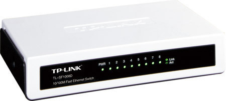 Комутатор (світч) TP-LINK TL-SF1008D, 8 портів 10/100 Mb, Unmanaged