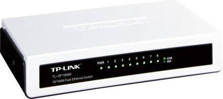 Комутатор (світч) TP-LINK TL-SF1008D, 8 портів 10/100 Mb, Unmanaged, фото 2
