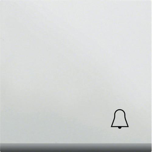Клавиша с символом Звонок LUMINA2 Hager белая WL6010