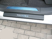 Накладки на пороги Volkswagen Touareg 2 (2010+) CARBON