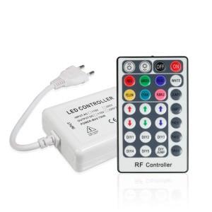 Контроллер 220V RGB для светодиодной ленты 750Bт-радио-28 кнопок. 50м