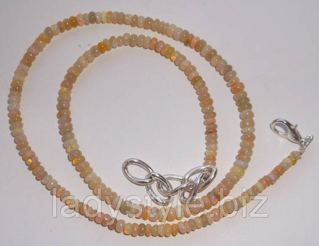 купить натуральный опал бусы ожерелье натуральный камень подарок к юбилею