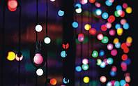 Світлодіодна гірлянда БАХРОМА КУЛЬКИ» 3х0,5 м, 150 led, колір RGB, фото 1