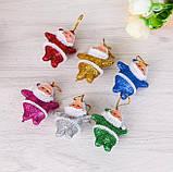 """Набір ялинкових прикрас """"Санта"""" - 6 шт (різнокольоровий), фото 2"""