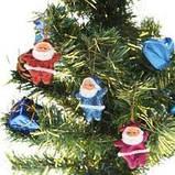 """Набір ялинкових прикрас """"Санта"""" - 6 шт (різнокольоровий), фото 3"""
