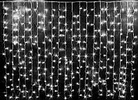 Светодиодная гирлянда штора Curtain 3х2 метра, 500 LED, цвет белый