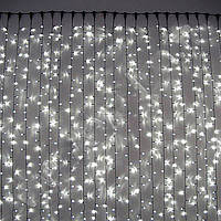 Уличная светодиодная гирлянда занавес 480 LED, 3х3м, IP65, черный каучук