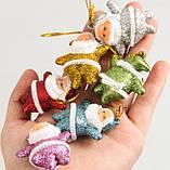 """Набір ялинкових прикрас """"Санта"""" - 6 шт (різнокольоровий), фото 4"""
