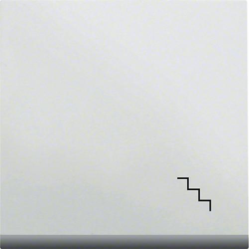 Клавиша с подсветкой с символом Лестница LUMINA2 Hager белая WL6130